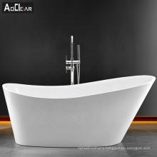 Aokeliya  acrylic japanese style soaking long freestanding bathtub