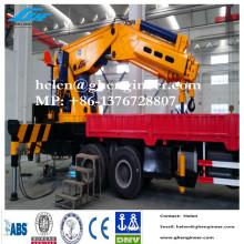 Nouvelle grue hydraulique pour camion à benne pour différents types de camions