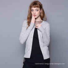 Women cardigan O neck single breasted stylish cashmere cardigan color spot decoration girls sweater cardigans