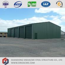 Almacenamiento de estructura de acero prefabricada agrícola