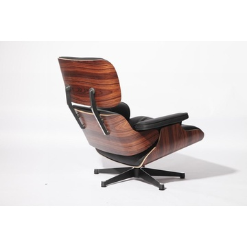 Chaise longue Eames in palissandro / palissandro