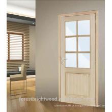 Portas de madeira de folheado de carvalho de vendas quente na América