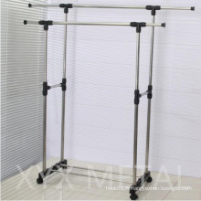 Acier inoxydable Double Rails Roll Retractable Clothes Drying Rack