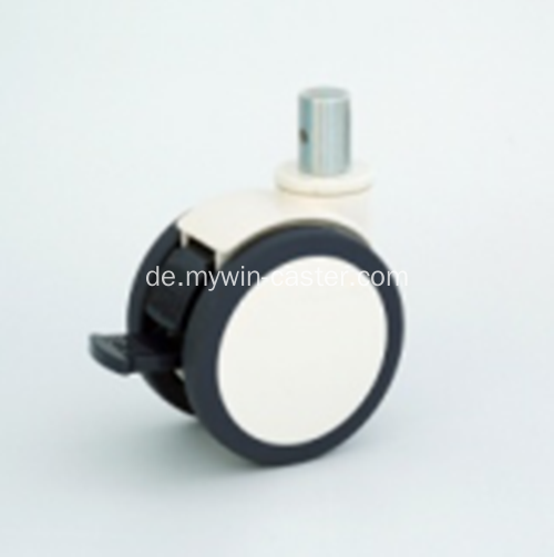 4 Inch Solid Stem Swivel PU-Material mit Halterung Medical Caster