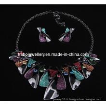 Ensemble de bijoux en pierre carrée / ensemble de collier de mode (XJW13218)