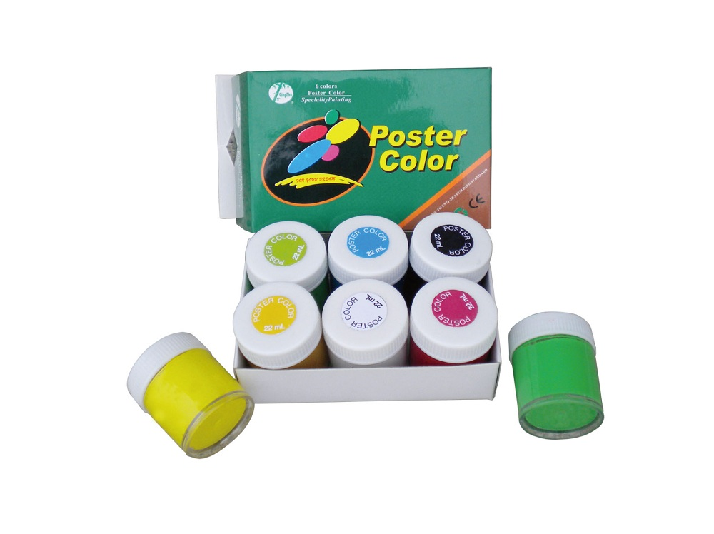 6 color poster color set