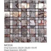 Telhas de parede de mosaico acp material decorativo quente