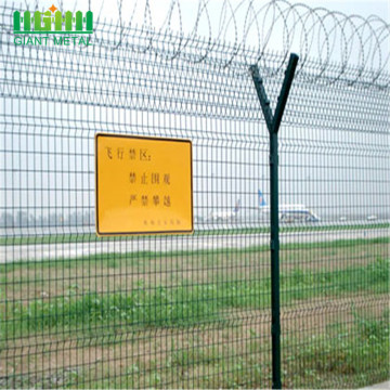 High Security Airport Fences Med Razor Barbed Wire