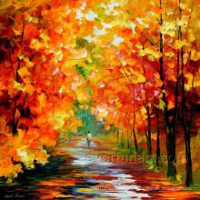 Pintura al óleo hecha a mano del paisaje del arte de la lona