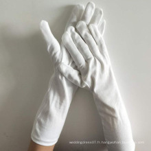 gants d'inspection de parade de coton blanc