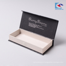 folha de livro de cílios folha de prata preta estampagem caixa magnética