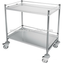 hospital used stainless steel instrument trolley