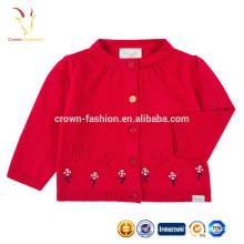 Diseños lindos del suéter del último diseño para la rebeca del suéter de las lanas del bebé de las muchachas