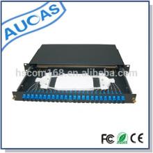 Aucas 24 port fiber optic patch panel 1U rack mount