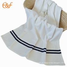Tecido de escova blanda branca White Comfort Polar Fleece Blanket