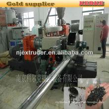 Machine d'extrusion de granulés en plastique en bois SHJS 65/150