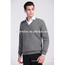 оптовая продажа роскошные качество 12гг плоские вязаные основной стиль мужчины кашемир пуловер
