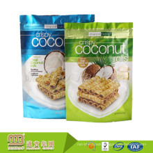 Custom Printed Snack Food Packaging Resealable Laminated Aluminum Foil Zip Lock Stand Up Pouches