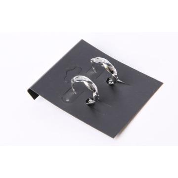 """""""C"""" geformte einfache Ohrringe mit Rhodium überzogen"""