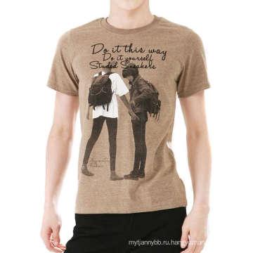 Высокое Качество Мода Нестандартная Конструкция Хлопок Мужчины T Рубашка