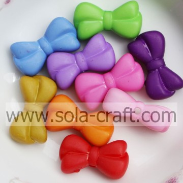 Matte Loose Plastic Beads Fashion Acrylic Solid Jewelry Butterfly Beads