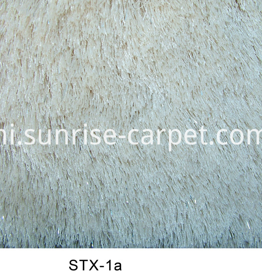 Polyester 150D Silk & Lurex Yarn Carpet
