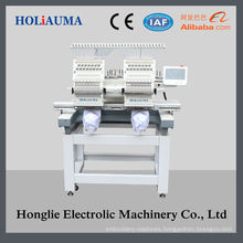 15 Colors 2 Head Cap and Tubular Embroidery Machine Price