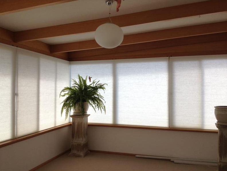light filting honeycomb blinds