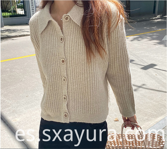 Autumn knitted button sweater