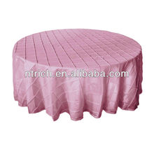 Роскошный тафта свадебное скатерть, столовое pintuck для свадеб