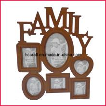 Marco de la foto de la familia de la Navidad para los regalos