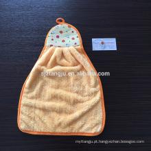 Hebei gaoyang alibaba china fornecedor suspensão microfibra coral velo mão toalha 30 * 45 cm