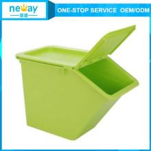 Grüne frische warme Aufbewahrungsbox aus Kunststoff