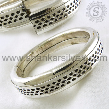 Glittering Fashion Indian Jaipur Silver Jewelry Bangle Supplier Wholesale Bijoux en argent Inde