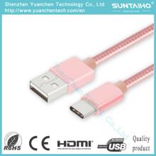Cable USB tipo C de 25 cm / 1 m Cable de carga de sincronización rápida de carga de cable