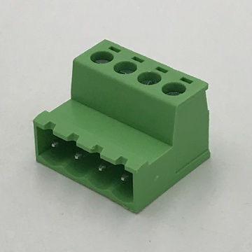 Wire to wire male lug pluggable terminal block