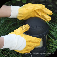 Best interlock liner 3/4 coated yellow nitrile gloves in Europe