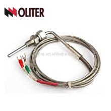Los sensores de temperatura egt sonda termocople de codo en ángulo estándar para horno de baño de sal con npt abrazadera de hilo soldadura de tapón