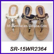 Sandalia india del pvc calza los zapatos desnudos de la playa de la muchacha zapatos sandalia del verano de las mujeres
