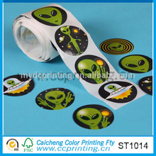puffy logo self adhesive sticker paper