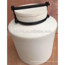 Porcelain 99--99.7% High alumina ceramic ball mill grinding jar with lid