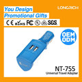 LongRich unique design car charger with dual usb quick charger for promotion NT755