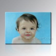 Handgemachtes Baby-Porträt-Malerei vom Foto
