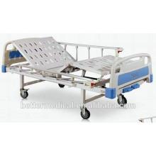 Ручная больничная койка с функцией наклона спинки и подголовника