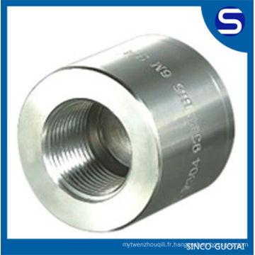 Raccord à haute pression / raccord de tuyau d'acier forgé / garnitures forgées d'acier inoxydable d'ASME B16.11