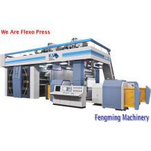 Máquina de impressão flexográfica por satélite