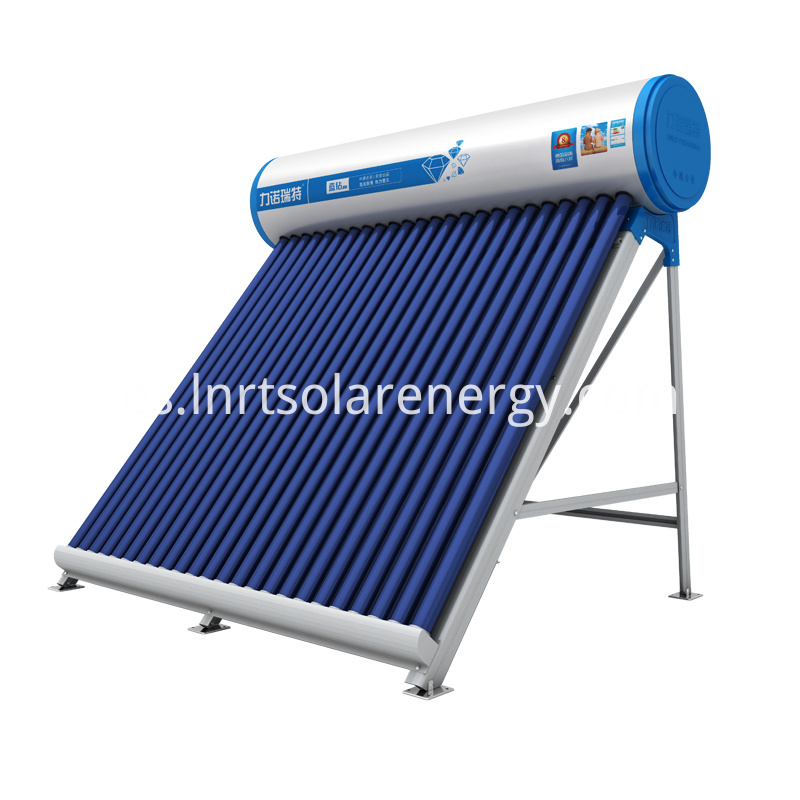 Performance characteristics - High energy yield and low heat loss due to the high vacuum of the evacuated tubes and PU insulation harmless to ozonosphere - High-quality stainless steel in the inner tank to continuously maintain a good water quality. - Products have been certified by Europe Solar Keymark certification. - Other capacity and vacuum tubes numbers are available on request. Scope of delivery - Water Tank - Aluminum brackets - Evacuated tubes Installation types - Flat roof, pitched roof Advantages and benefits - Cost effective solar water heating solution - Long operating life time but low in maintenance costs and repaire requirements. - Short pay-back peroid. - Customized solar water heating solution.