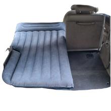 Air Mattress Camping Bed Cushion Pillow Inflatable Car Air Bed with Electric Air Pump Flocked Surface Portable Sleeping Cushion