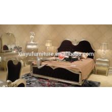Europen king soild wood fabric bedroom furniture BD8014
