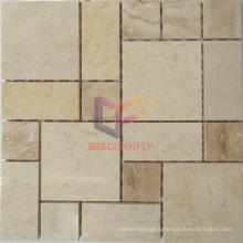 Beige Color Natural Marble Mosaic Tile (CFS955)